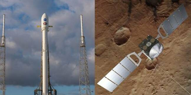 TESS delayed while Mars Express reboots (pic: ESA and SpaceX)