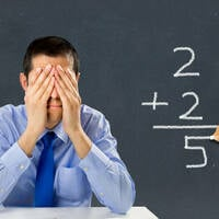 Teacher despairs at pupil's poor arithmetic
