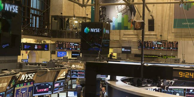 New York Stock Exchange floor view