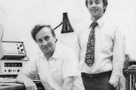 Walter Spier L Peter LeComber R photo courtesy University of Dundee Archive Services