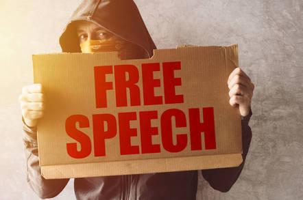 Someone demanding freedom of speech