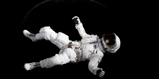 Astronaut losing control in space