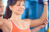 Woman in fitness training