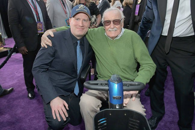 Kevin Feige and Stan Lee - Marvel studios