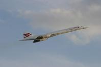 Concorde in flight photo British Airways
