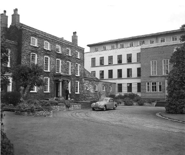 Old and new Filton House circa 1952 photo copyright Airbus