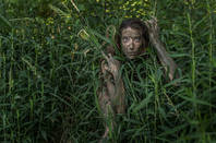 Woman in the Amazon jungle