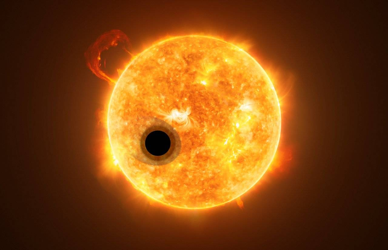 The helium is first discovered in the atmosphere of extrasolar planets
