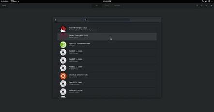 Fedora 28 boxes screenshot