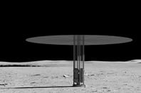 NASA's Kilopower Reactor depicted on the Moon