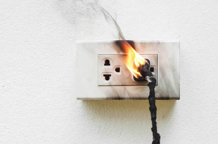 Power point electrical fire
