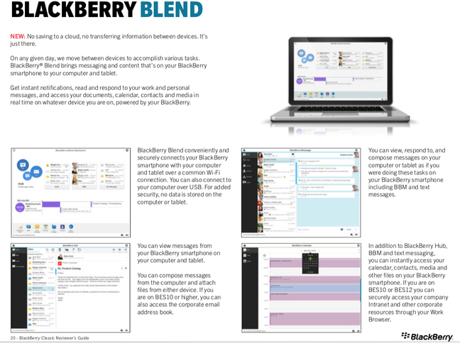 BlackBerry Blend reviewers guide 2014