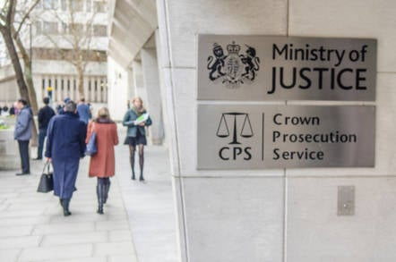 Ministry of Justice & Crown Prosecution Service government office building, Westminster.