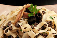 A place of anchovy pasta