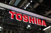 Japanese multinational conglomerate Toshiba sign in Beijing, China