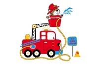 Cartoon fire truck