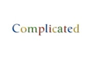 """Complicated"" in faux google logo style"