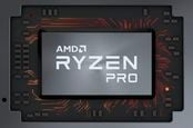 Rendering of an AMD Ryzen Pro chip
