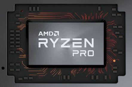 Rendering of an AMD Ryzen Pro chip