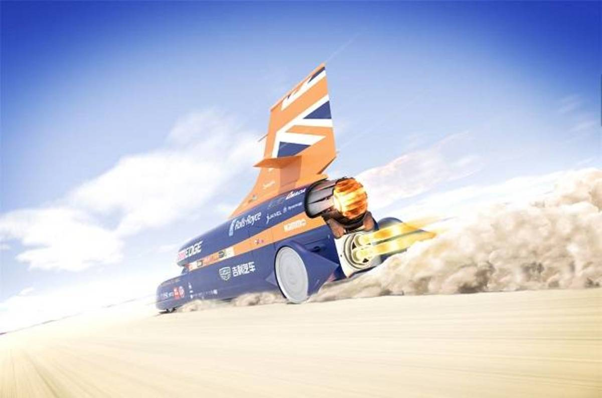 photo image Bloodhound Super-Sonic Car aims to wake up Newquay: Rocket work restart in August