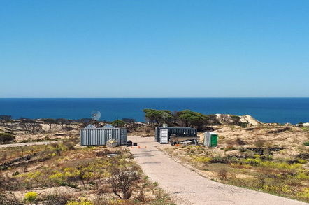The Insitu UAV ground control station, as deployed at the CEDEA test range in southern Spain