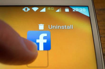 Uninstalling facebook