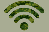 Camouflage WiFi logo