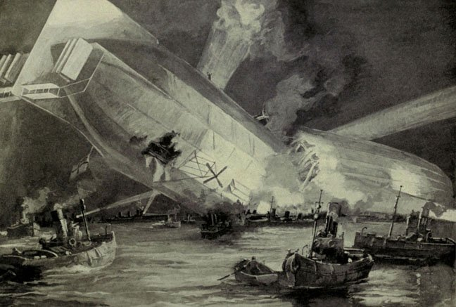 Zeppelin L15 crashed Thames estuary photo via Shutterstock