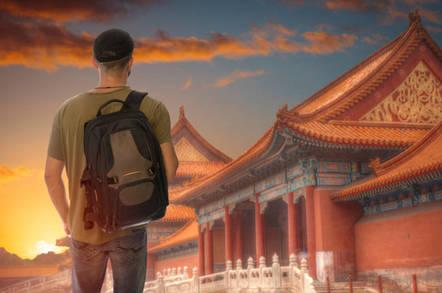 Tourist in Beijing China
