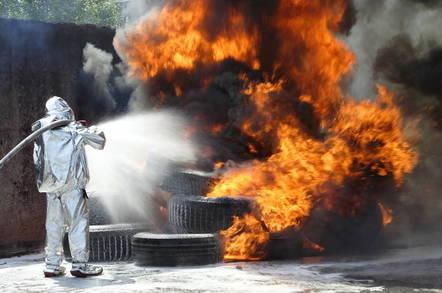 A tire fire
