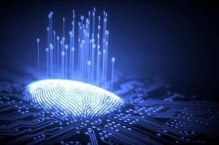 A digitized fingerprint