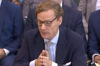 Alexander Nix, former chief exec of Cambridge Analytica, giving evidence to Parliament
