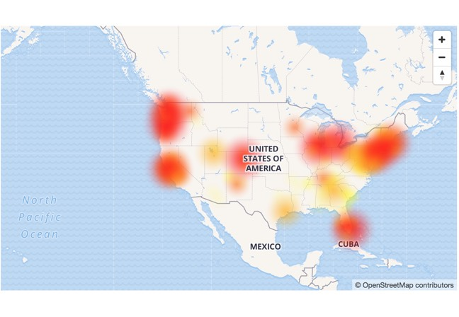 Comcast service is reportedly down across the United States