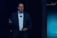Cisco Live keynote 2018 Chuck Robbins screengrab