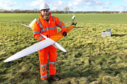 Sensat's drone before its 29km BVLOS flight. Pic: Sensat