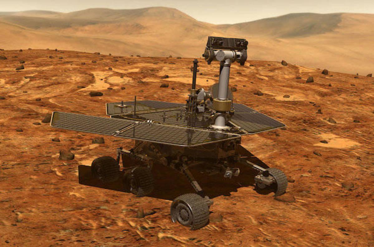 photo image Da rude sand storm seizes the Opportunity, threatens to KO rover