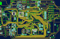 Illustration of a circuit board