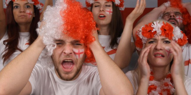 Angry England supporters