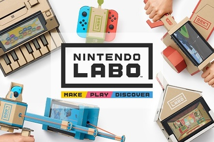 Various Nintendo Labo kits