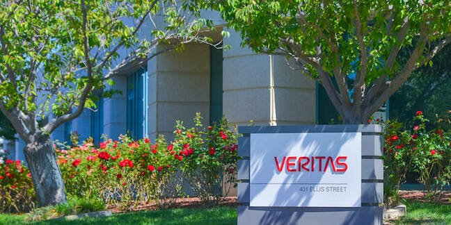 Outside Veritas' office in Mountain View, CA
