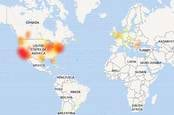 Screenshot of Downdetector's Google Home outage map