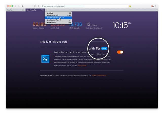 Brave Brave browser\u0027s hamburger menu serves Tor onion routing \u2022 The