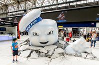 "Stay Puft Marshmallow Man, ""ghost"" from Ghostbusters movie, at a promo in Waterloo station, London, 2016. Pic : Anton_Ivanov / Shutterstock.com"