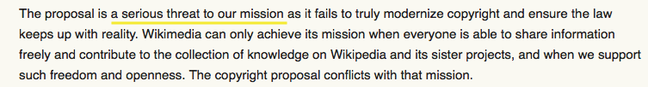 Wikipedia mission threat