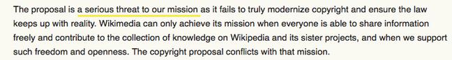 Wikipedia mission threat