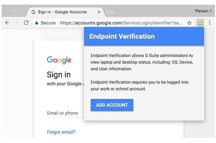 Google's new Endpoint Verification Chrome extension