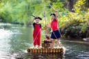 Kids dressed in pirate costumes