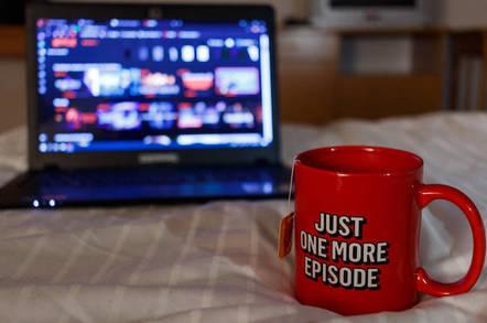 Binge watching and drinking tea