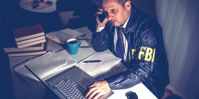 FBI agent on a phone