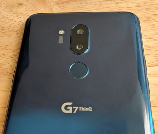 LG G7 ThinkQ back top shot